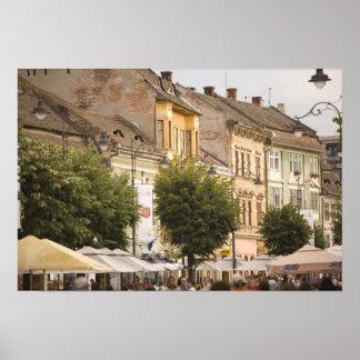 Romania, Sibiu. New Town. RF) Poster