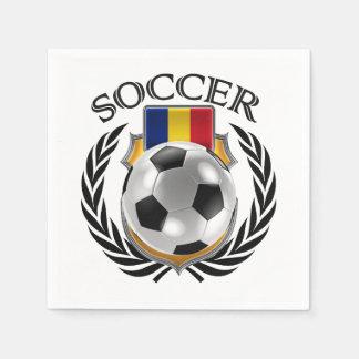 Romania Soccer 2016 Fan Gear Napkin
