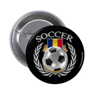 Romania Soccer 2016 Fan Gear Pinback Button