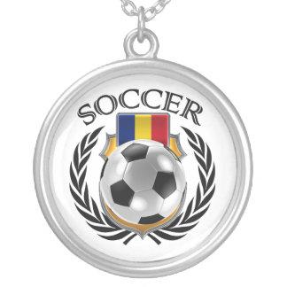 Romania Soccer 2016 Fan Gear Silver Plated Necklace