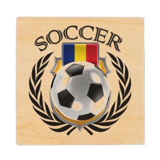 Romania Soccer 2016 Fan Gear Wooden Coaster