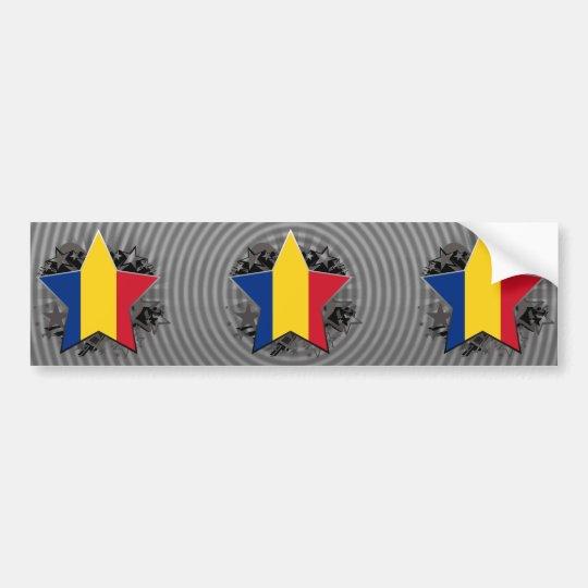 Romania Star Bumper Sticker