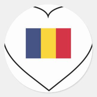 Romania Classic Round Sticker