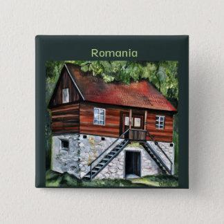 Romania - Traditional Transylvanian House Button