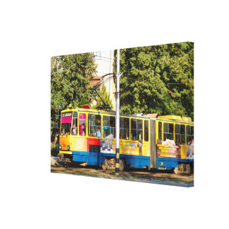 Romania,tram, cheap city transport canvas print