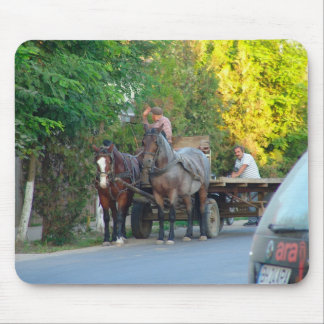 Romania, Transport, old and new Mouse Pad