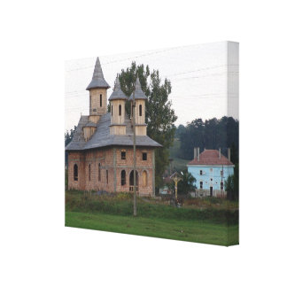 Romania,   Transylvannia, village church Canvas Print