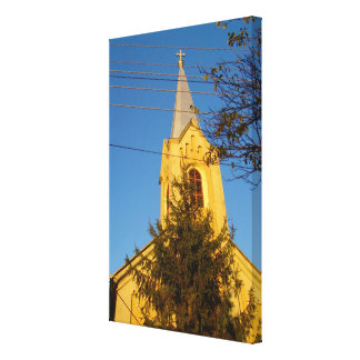 Romania, village church canvas print
