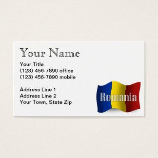 Romania Waving Flag Business Card