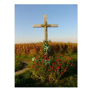 Romania, Wayside shrine  crucifix Postcard