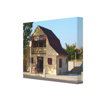 Romania, Western Romanian, village bar Canvas Print