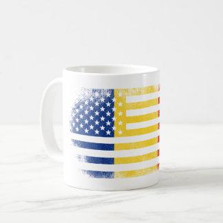 Romanian American Flag   Romania and USA Design Coffee Mug