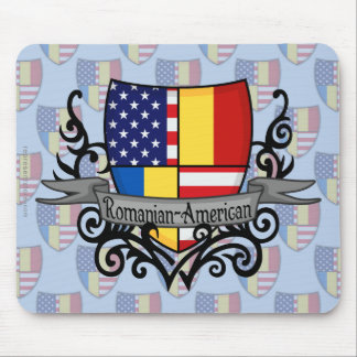 Romanian-American Shield Flag Mouse Pads