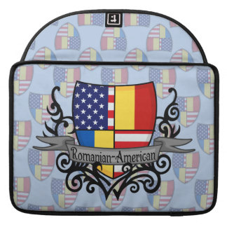 Romanian-American Shield Flag Sleeve For MacBook Pro