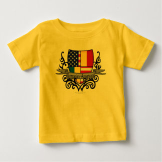 Romanian-American Shield Flag Tee Shirts