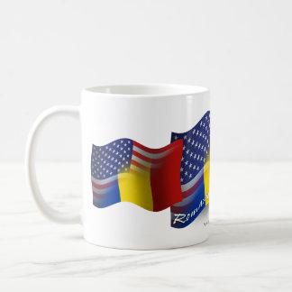 Romanian-American Waving Flag Coffee Mug