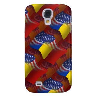 Romanian-American Waving Flag Galaxy S4 Case