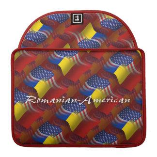 Romanian-American Waving Flag Sleeve For MacBooks