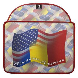 Romanian-American Waving Flag MacBook Pro Sleeve