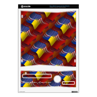 Romanian-American Waving Flag Xbox 360 S Console Decal