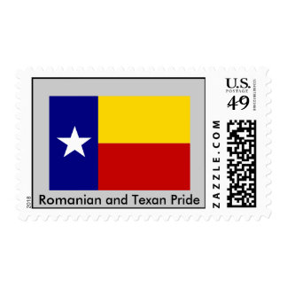 Romanian and Texan Pride Postage Stamps