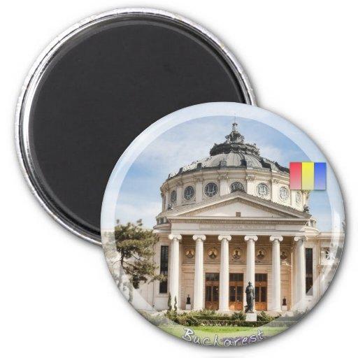 Romanian Atheneum 2 Inch Round Magnet