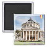 Romanian Atheneum 2 Inch Square Magnet