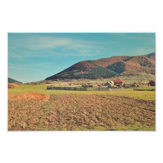 Romanian autumn landscape photo art