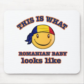 Romanian baby designs mouse pads
