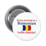 Romanian Builds Character Pinback Buttons