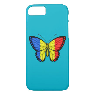 Romanian Butterfly Flag iPhone 7 Case