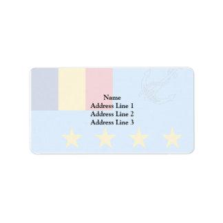 Romanian Chief Of Naval Staff, Romania flag Address Label