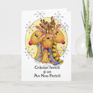 Christmas in romanian cards greeting photo cards zazzle romanian christmas card reindeer crciun feric m4hsunfo
