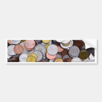 romanian coins bumper sticker