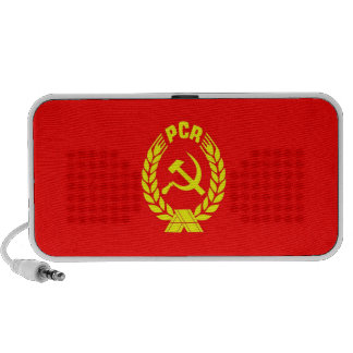 romanian communist party flag old ceausescu travelling speaker