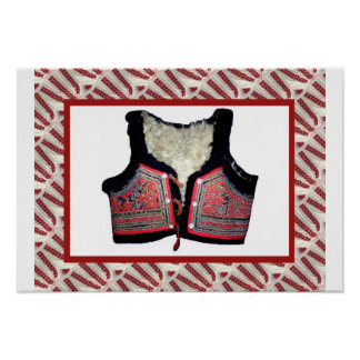 Romanian craft, embroidered bodice poster
