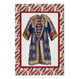 Romanian craft, embroidered coa t4 poster
