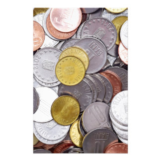 Romanian currency coins stationery