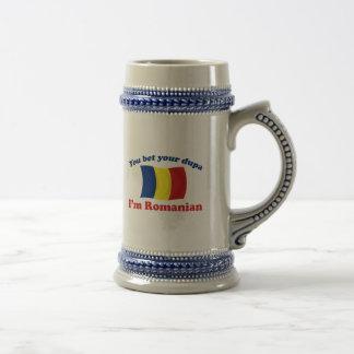 Romanian Dupa (with flag) Coffee Mugs