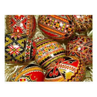Romanian gifts on zazzle romanian easter eggs postcard negle Choice Image