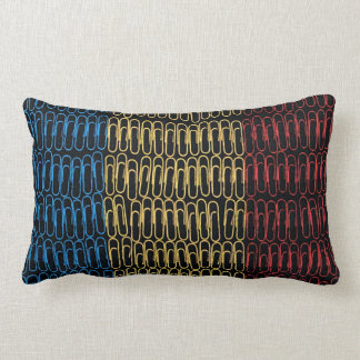 Romanian Flag of Paperclips Pillows