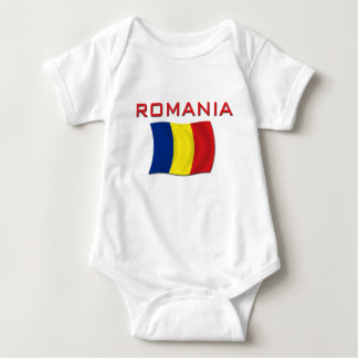 Romanian Flag (Red) Baby Bodysuit
