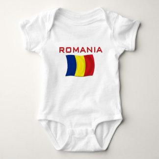 Romanian Flag (Red) Baby Bodysuit
