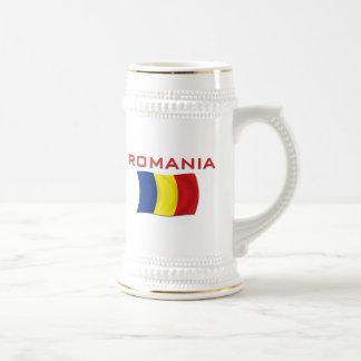 Romanian Flag (Red) Coffee Mugs