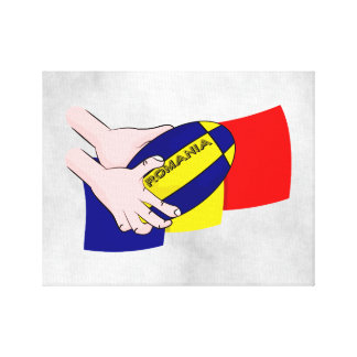 Romanian Flag Romania Rugby Supporters Canvas Print