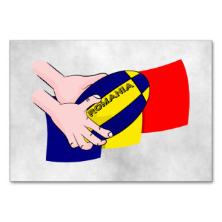 Romanian Flag Romania Rugby Supporters Card