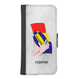 Romanian Flag Romania Rugby Supporters iPhone SE/5/5s Wallet Case