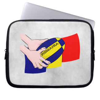 Romanian Flag Romania Rugby Supporters Laptop Sleeve