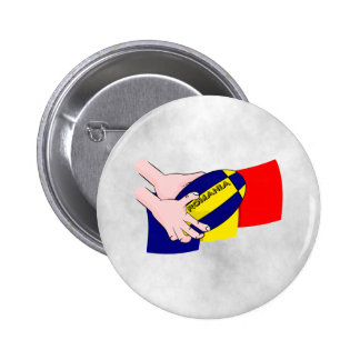 Romanian Flag Romania Rugby Supporters Pinback Button