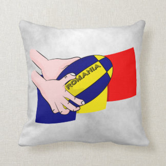 Romanian Flag Romania Rugby Supporters Throw Pillow